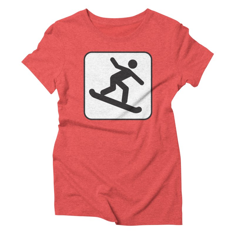 Snowboarder Women's T-Shirt by Shirt For Brains