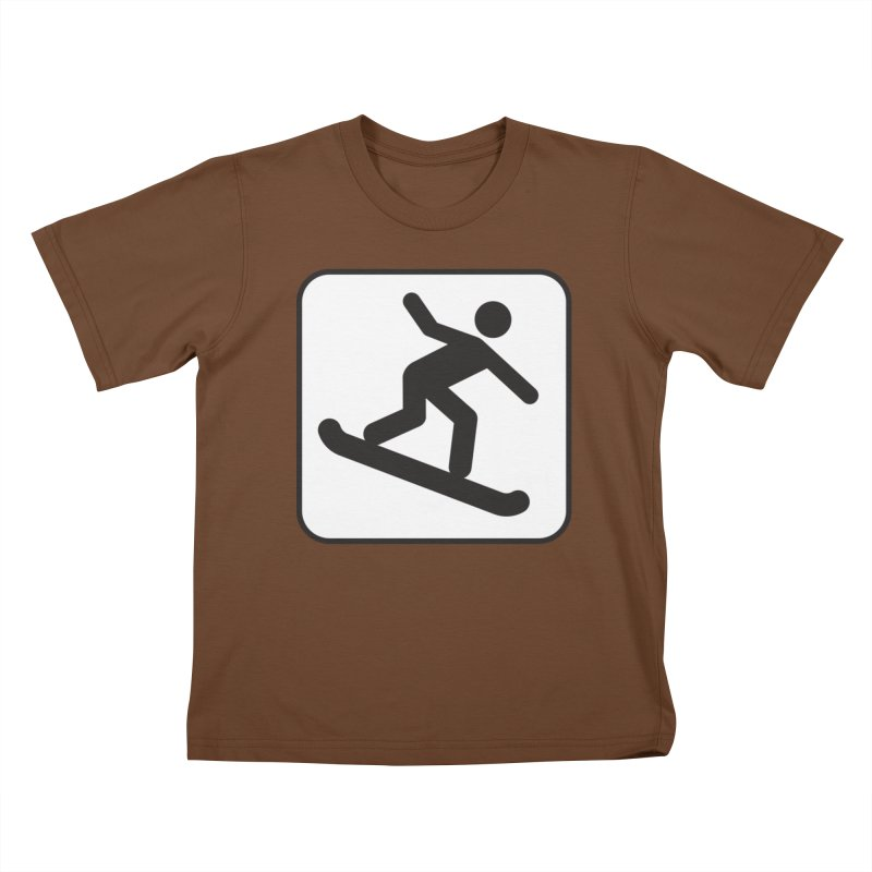Snowboarder Kids T-Shirt by Shirt For Brains