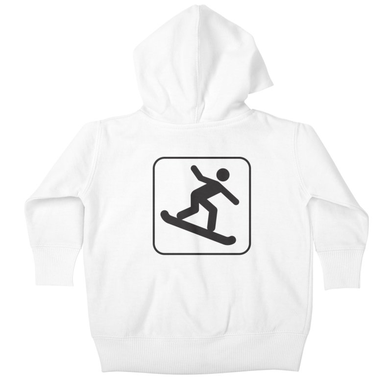 Snowboarder Kids Baby Zip-Up Hoody by Shirt For Brains