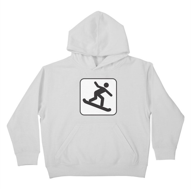 Snowboarder Kids Pullover Hoody by Shirt For Brains