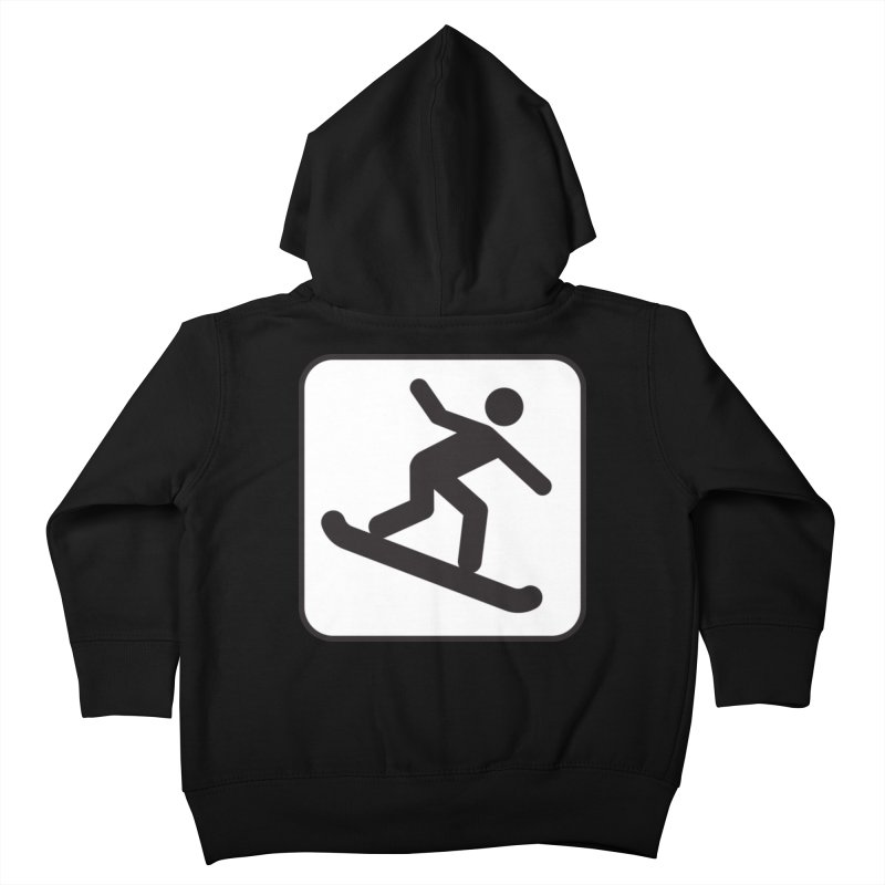 Snowboarder Kids Toddler Zip-Up Hoody by Shirt For Brains