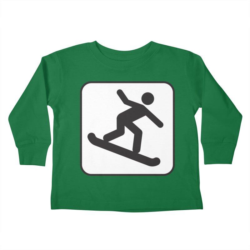 Snowboarder Kids Toddler Longsleeve T-Shirt by Shirt For Brains