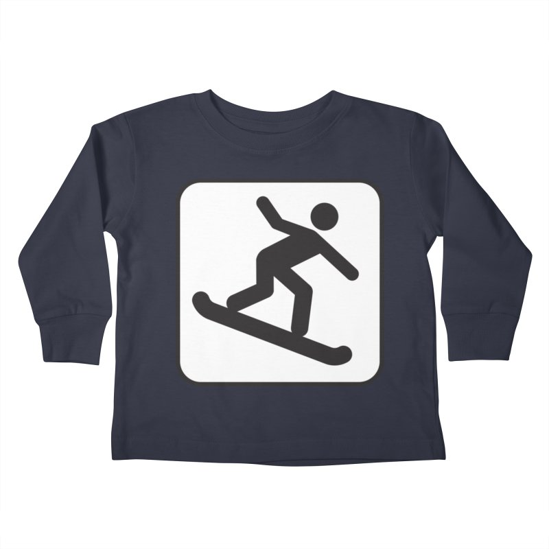 Snowboarder Kids Toddler Longsleeve T-Shirt by Shirt For Brains
