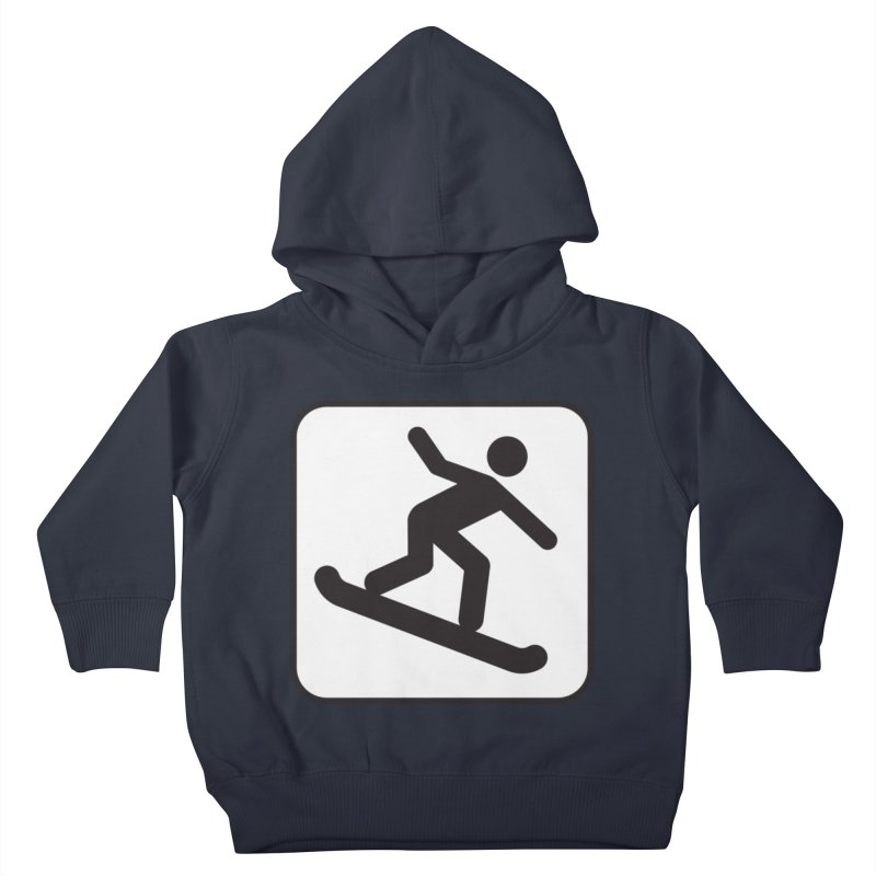 Snowboarder Kids Toddler Pullover Hoody by Shirt For Brains