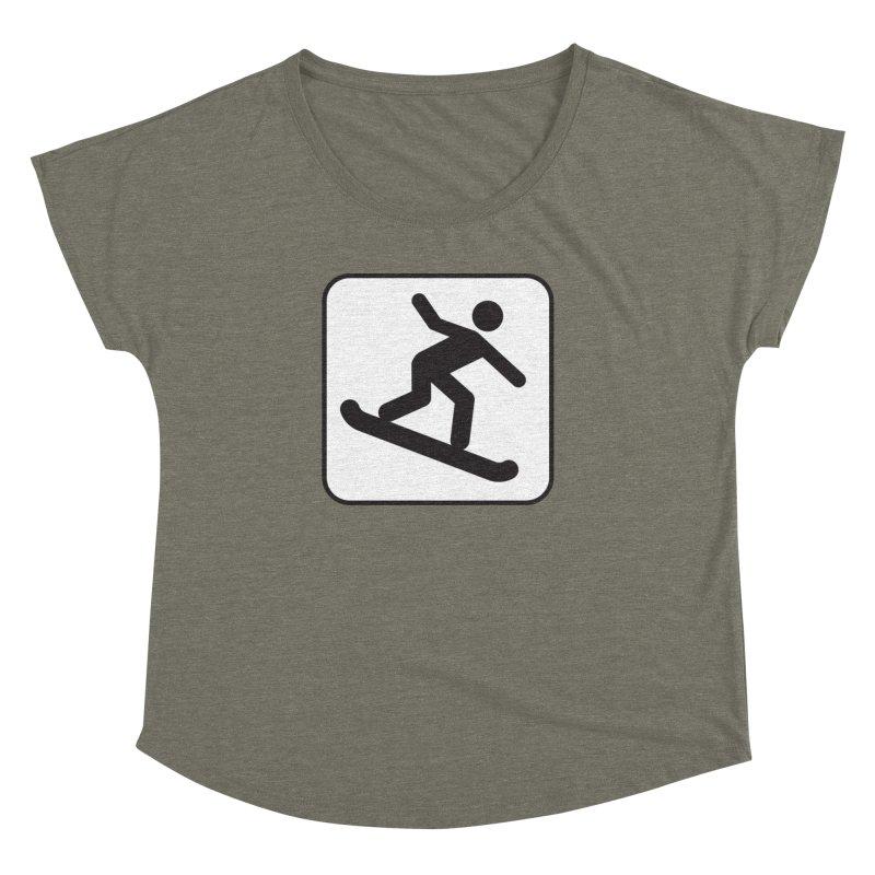 Snowboarder Women's Dolman Scoop Neck by Shirt For Brains