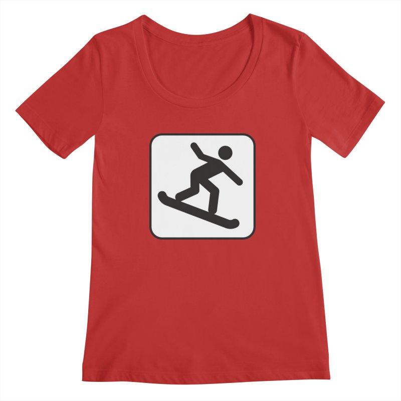 Snowboarder Women's Regular Scoop Neck by Shirt For Brains