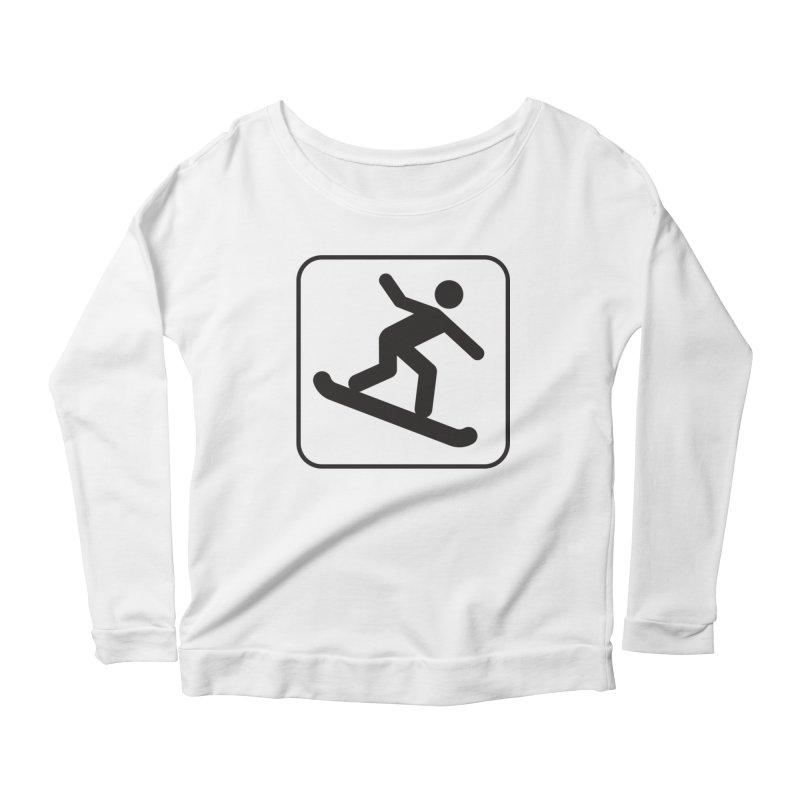 Snowboarder Women's Scoop Neck Longsleeve T-Shirt by Shirt For Brains