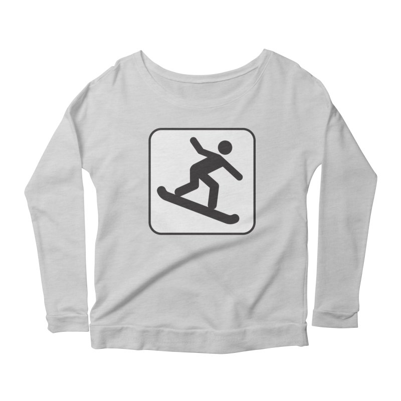Snowboarder Women's Scoop Neck Longsleeve T-Shirt by Shirt For Brains