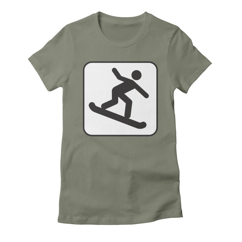 Snowboarder Women's Fitted T-Shirt by Shirt For Brains