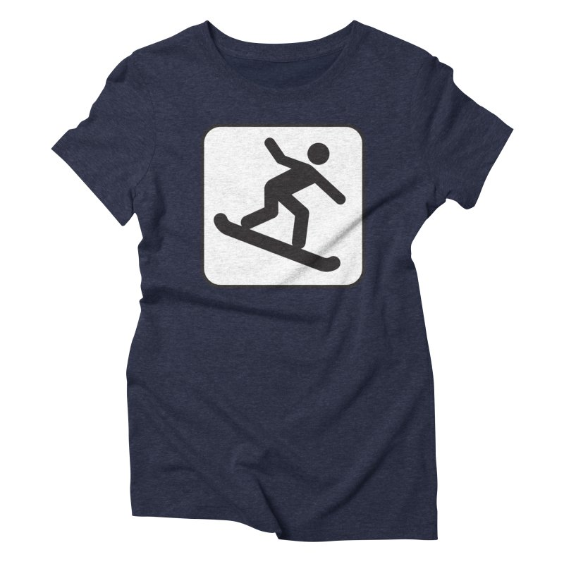 Snowboarder Women's Triblend T-Shirt by Shirt For Brains