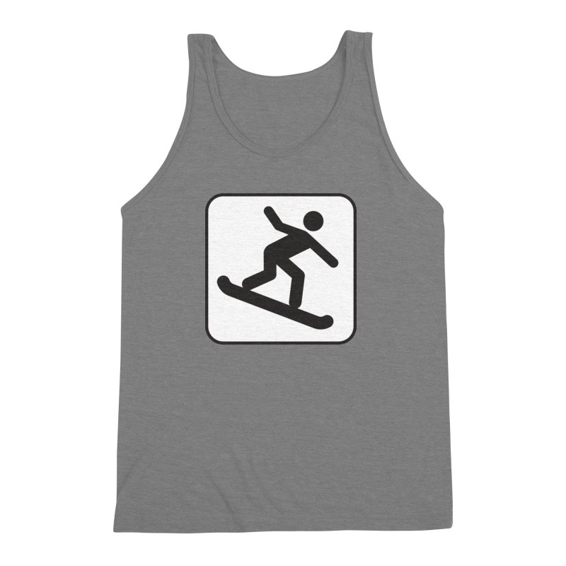 Snowboarder Men's Triblend Tank by Shirt For Brains