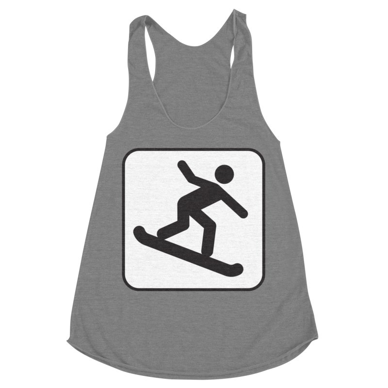 Snowboarder Women's Racerback Triblend Tank by Shirt For Brains