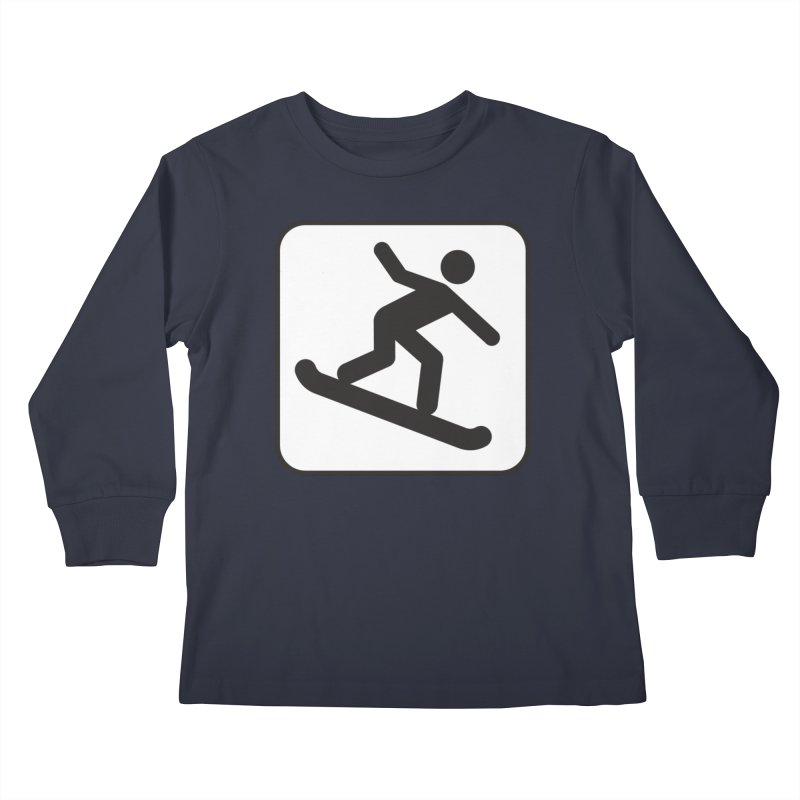 Snowboarder Kids Longsleeve T-Shirt by Shirt For Brains