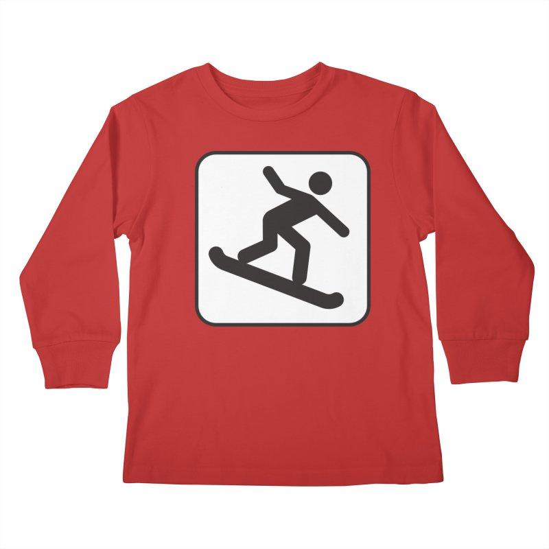 Snowboarder Kids Longsleeve T-Shirt by Shirt For Brains