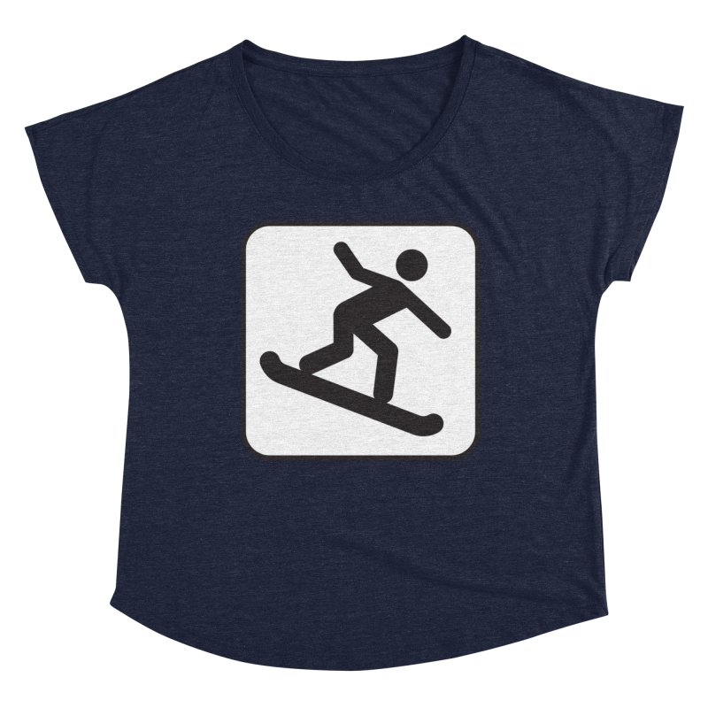 Snowboarder Women's Scoop Neck by Shirt For Brains