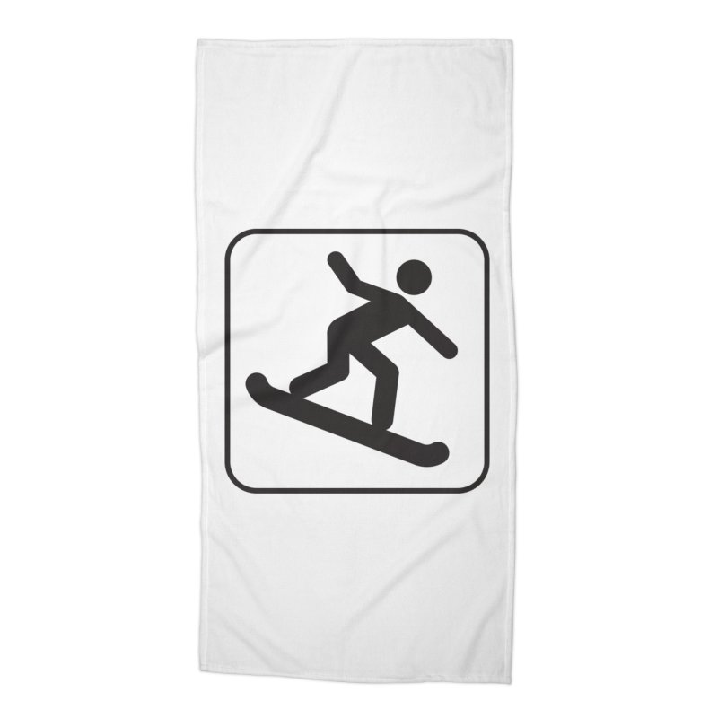 Snowboarder Accessories Beach Towel by Shirt For Brains