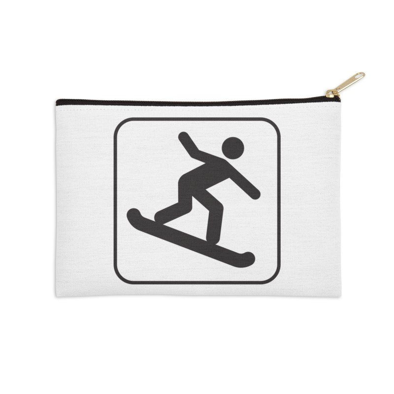 Snowboarder Accessories Zip Pouch by Shirt For Brains