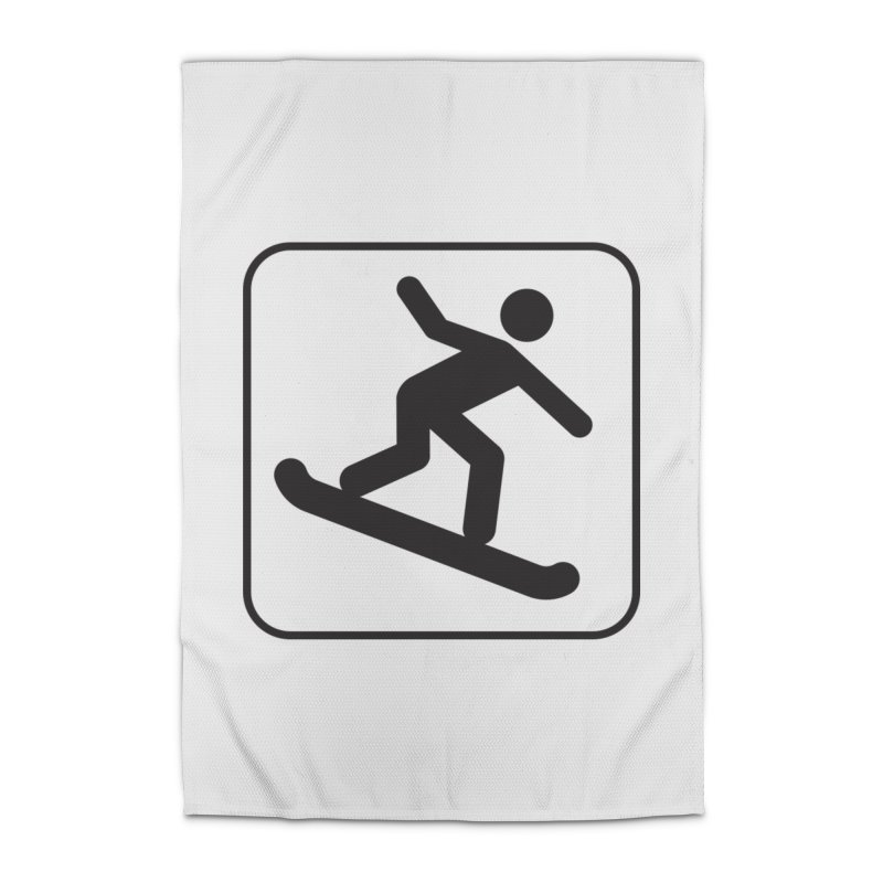 Snowboarder Home Rug by Shirt For Brains