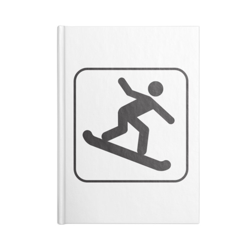 Snowboarder Accessories Notebook by Shirt For Brains