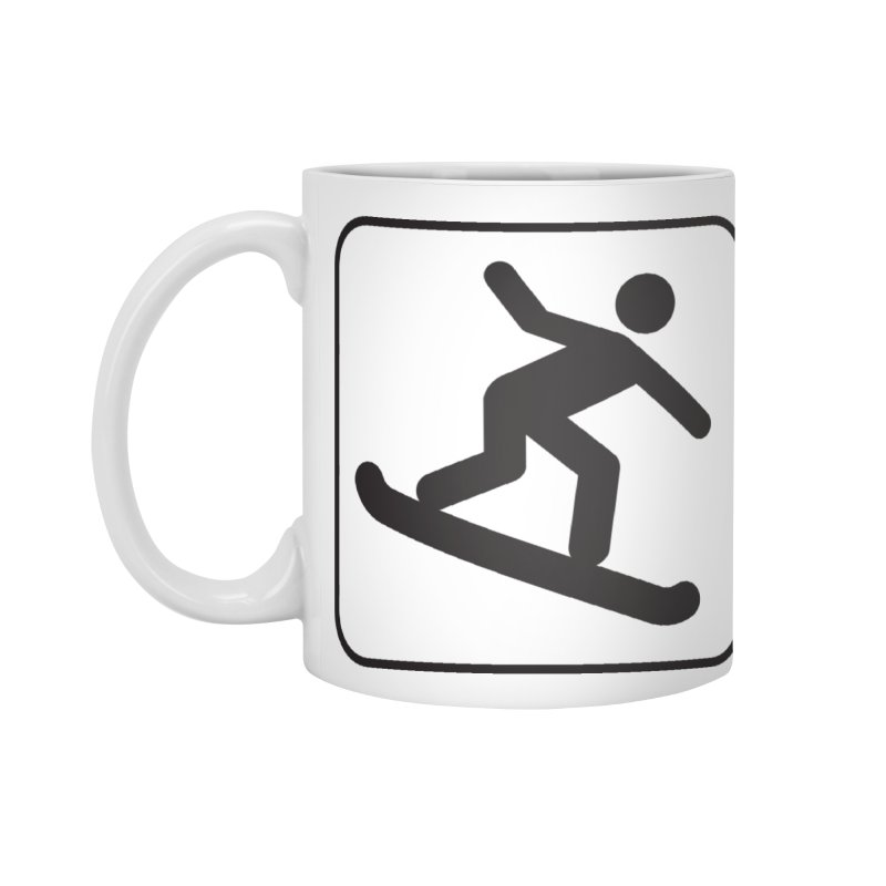Snowboarder Accessories Standard Mug by Shirt For Brains