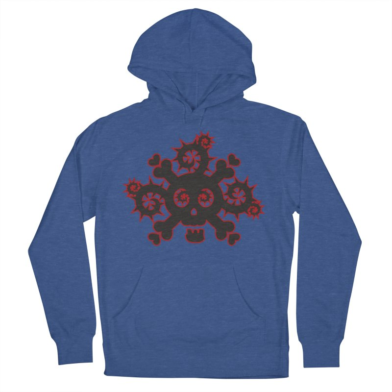 Skull & Crossbones Men's French Terry Pullover Hoody by Shirt For Brains