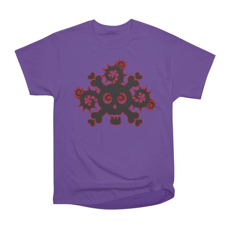 Skull & Crossbones Women's Heavyweight Unisex T-Shirt by Shirt For Brains