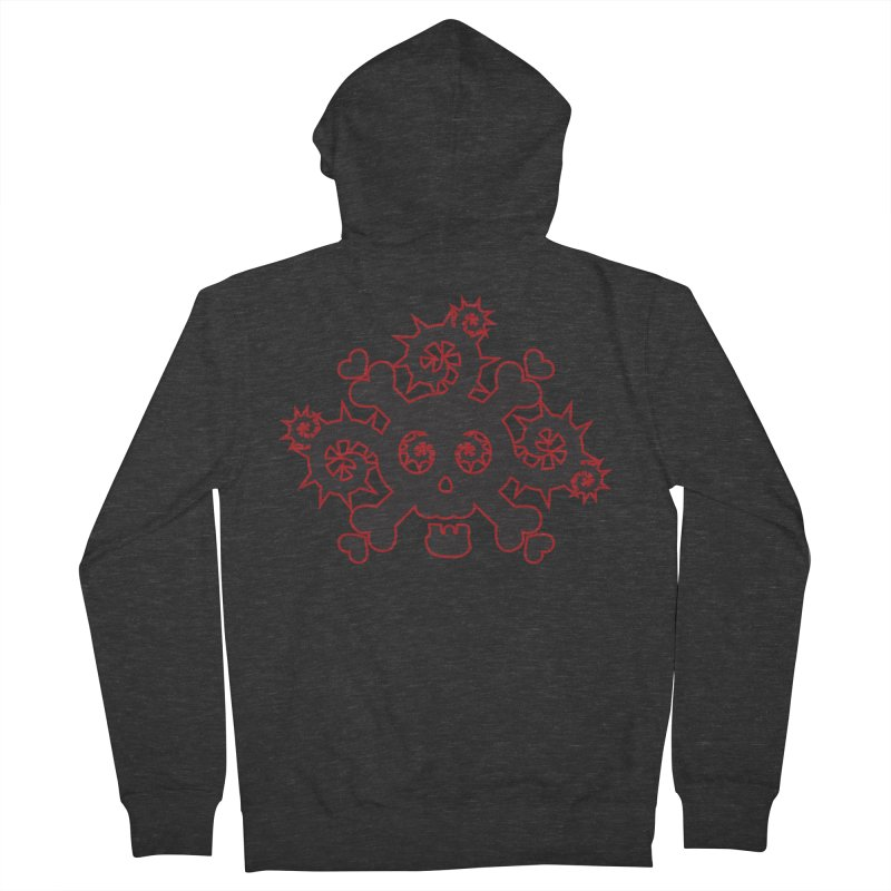 Skull & Crossbones Women's French Terry Zip-Up Hoody by Shirt For Brains