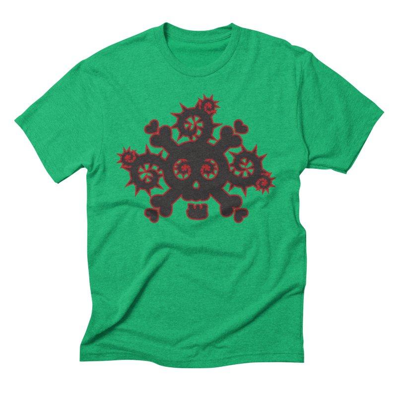 Skull & Crossbones Men's Triblend T-Shirt by Shirt For Brains