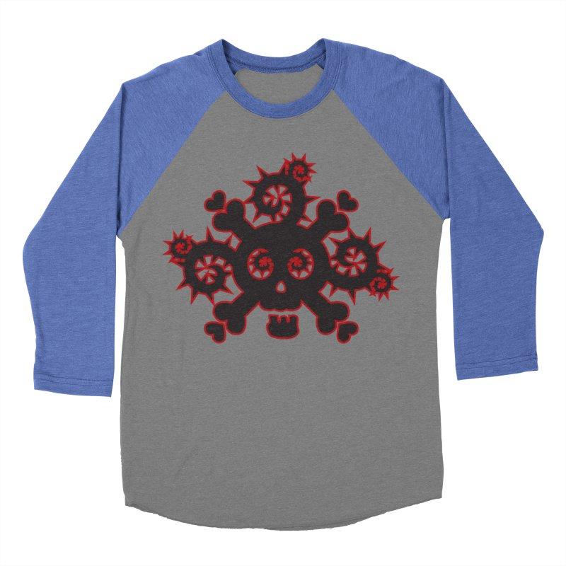 Skull & Crossbones Women's Baseball Triblend Longsleeve T-Shirt by Shirt For Brains
