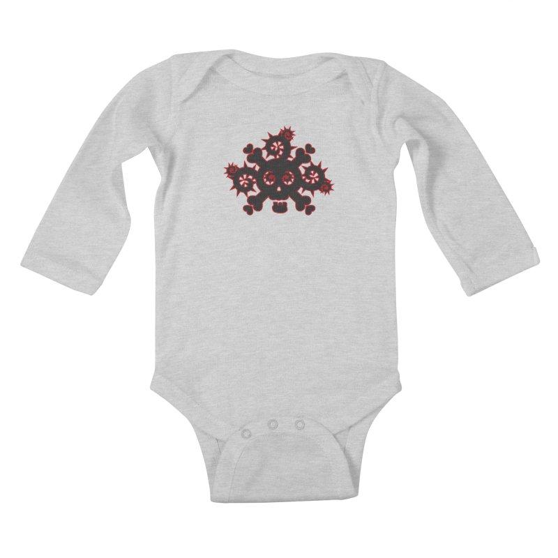 Skull & Crossbones Kids Baby Longsleeve Bodysuit by Shirt For Brains