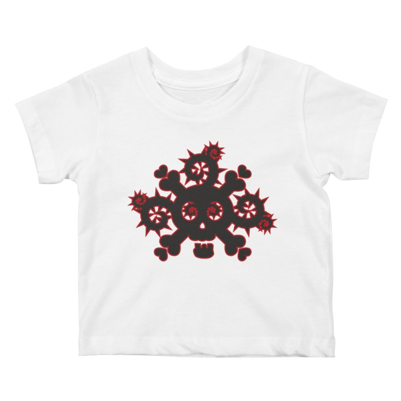 Skull & Crossbones Kids Baby T-Shirt by Shirt For Brains