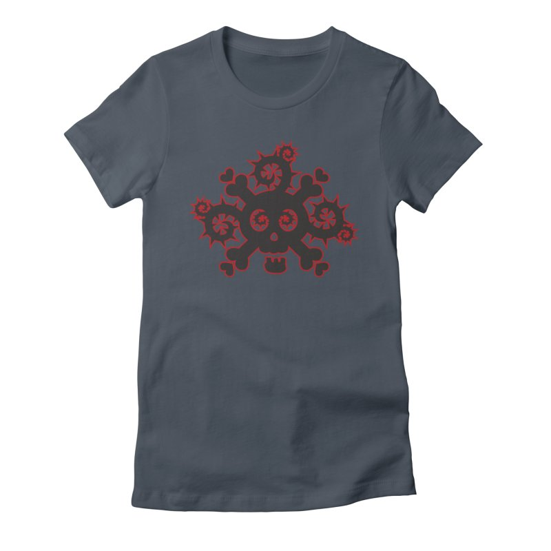 Skull & Crossbones Women's T-Shirt by Shirt For Brains