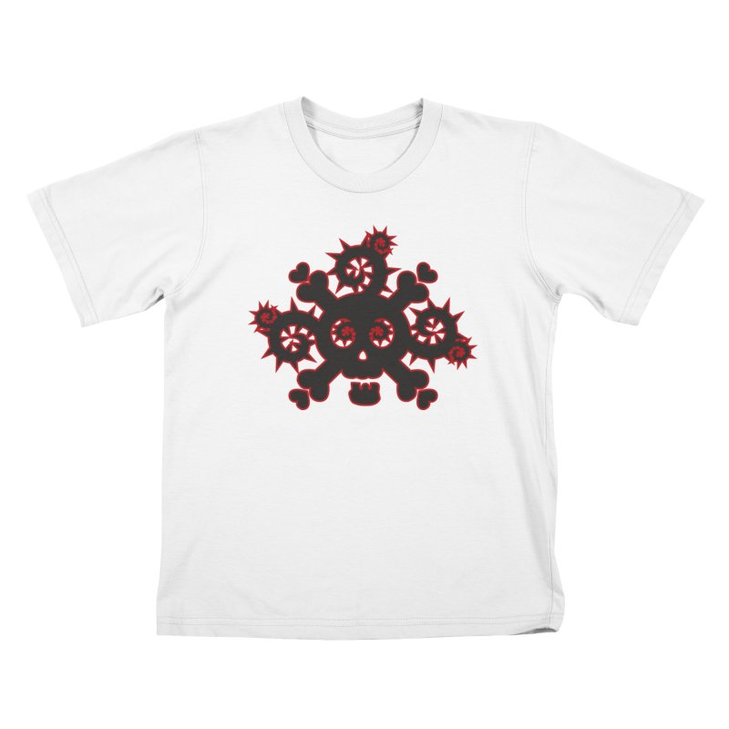 Skull & Crossbones Kids T-Shirt by Shirt For Brains
