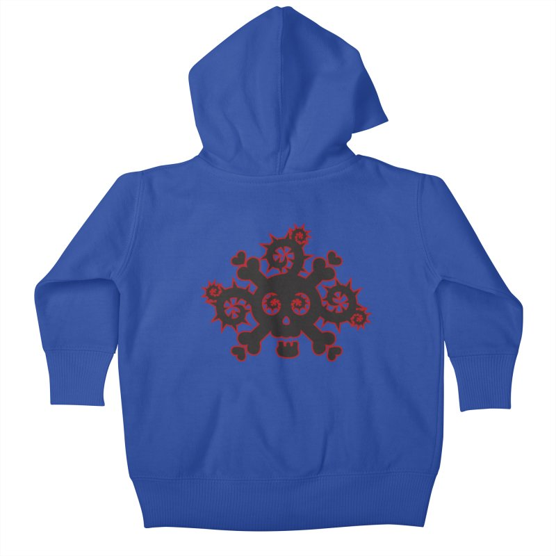 Skull & Crossbones Kids Baby Zip-Up Hoody by Shirt For Brains