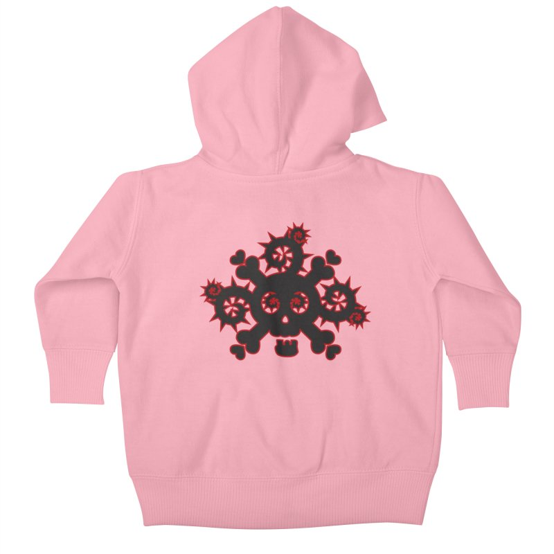 Skull & Crossbones Kids Baby Zip-Up Hoody by Shirt For Brains
