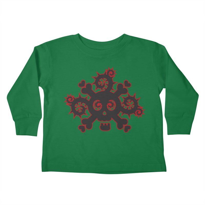 Skull & Crossbones Kids Toddler Longsleeve T-Shirt by Shirt For Brains