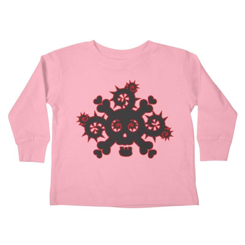 Skull & Crossbones Kids Toddler Longsleeve T-Shirt by Shirt For Brains