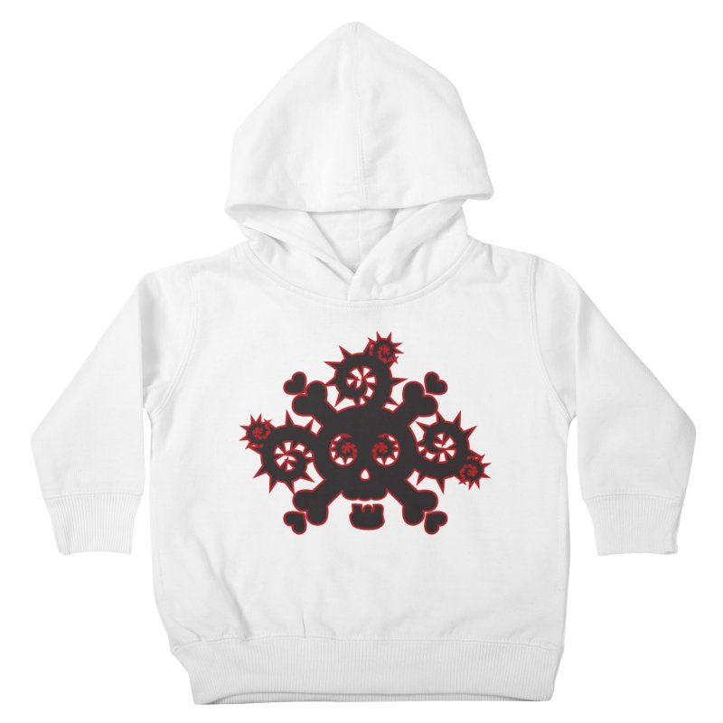 Skull & Crossbones Kids Toddler Pullover Hoody by Shirt For Brains