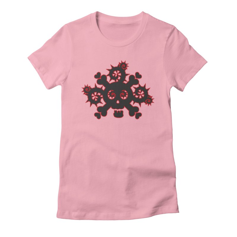 Skull & Crossbones Women's T-Shirt by Shirt For Brains