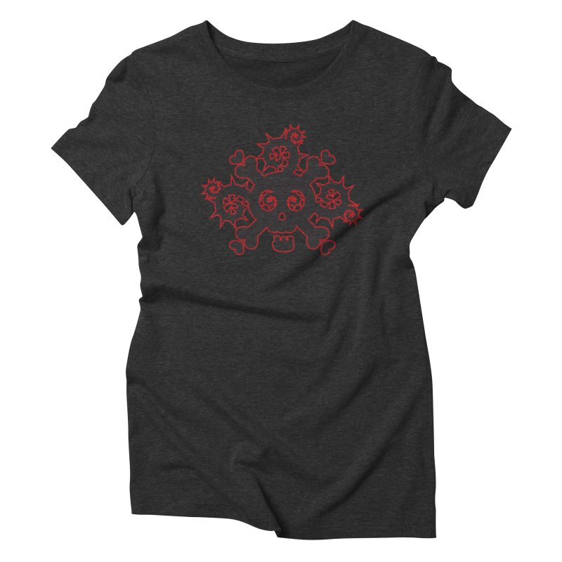 Skull & Crossbones Women's Triblend T-Shirt by Shirt For Brains