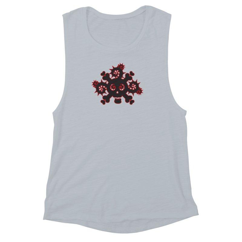 Skull & Crossbones Women's Muscle Tank by Shirt For Brains