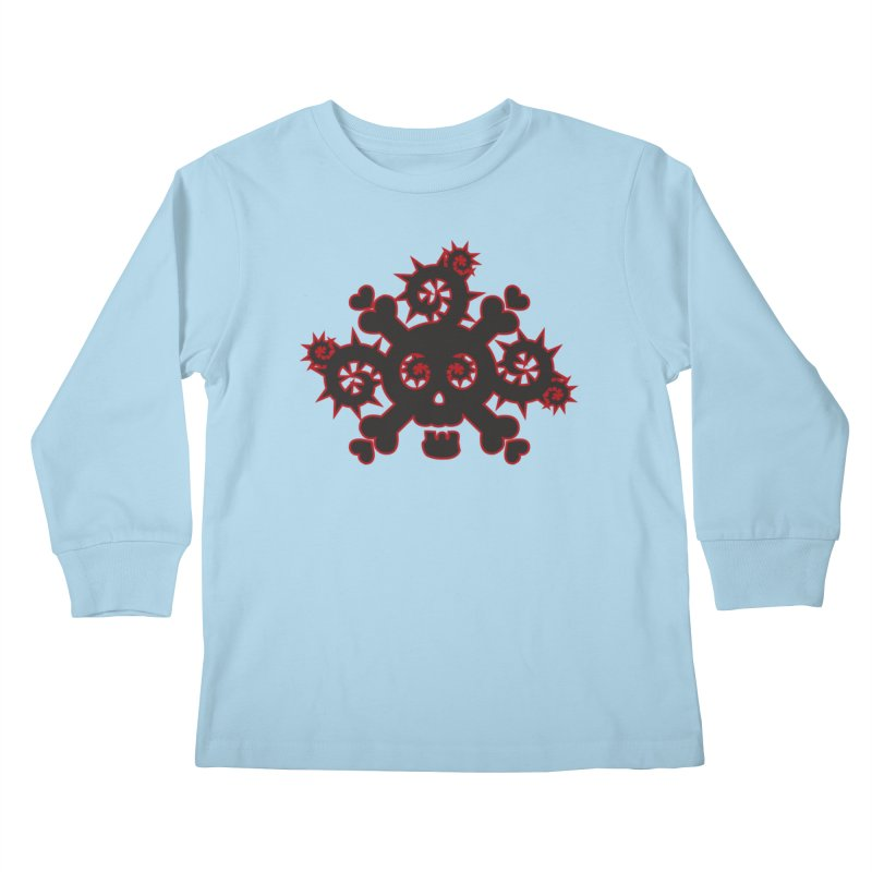 Skull & Crossbones Kids Longsleeve T-Shirt by Shirt For Brains