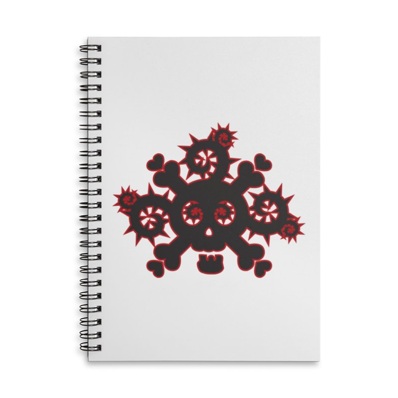 Skull & Crossbones Accessories Notebook by Shirt For Brains