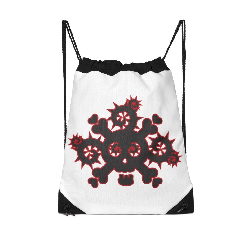 Skull & Crossbones Accessories Drawstring Bag Bag by Shirt For Brains