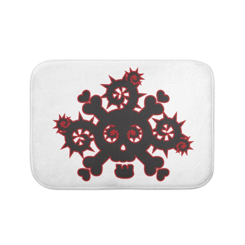 Skull & Crossbones Home Bath Mat by Shirt For Brains
