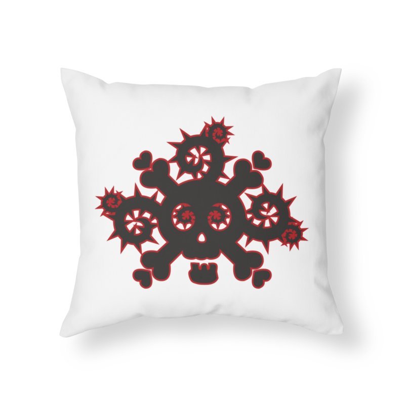 Skull & Crossbones Home Throw Pillow by Shirt For Brains