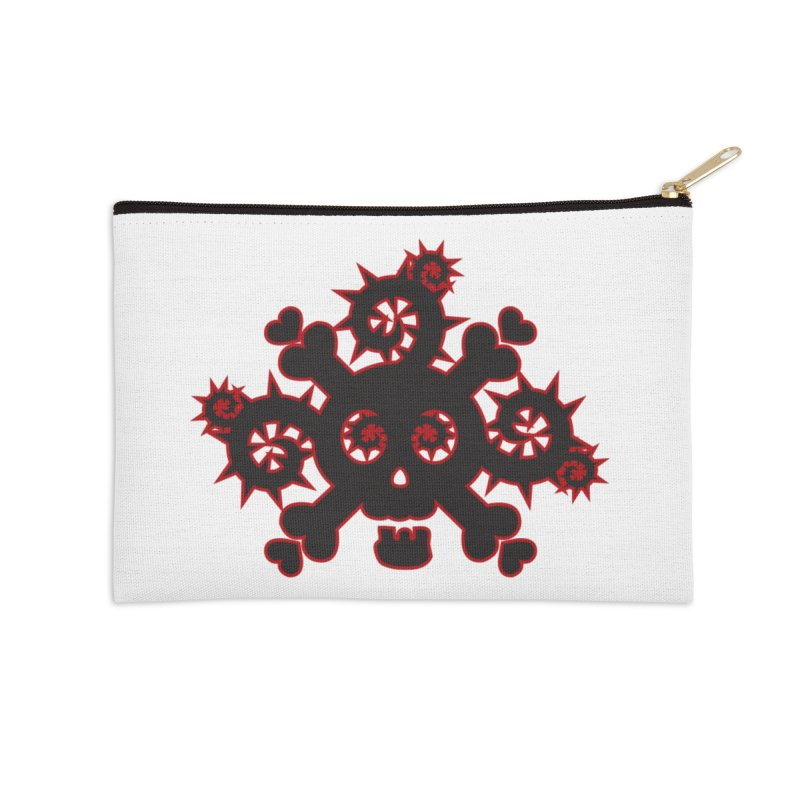 Skull & Crossbones Accessories Zip Pouch by Shirt For Brains