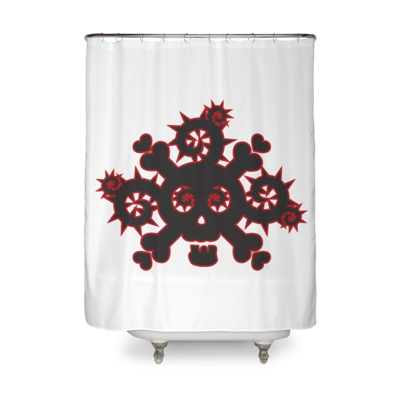 Skull & Crossbones Home Shower Curtain by Shirt For Brains