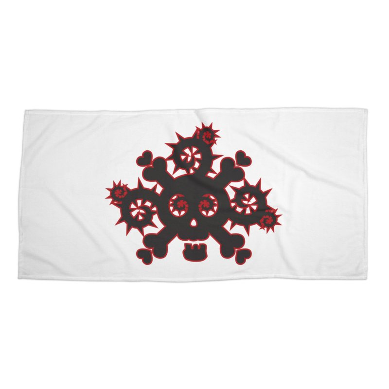 Skull & Crossbones Accessories Beach Towel by Shirt For Brains