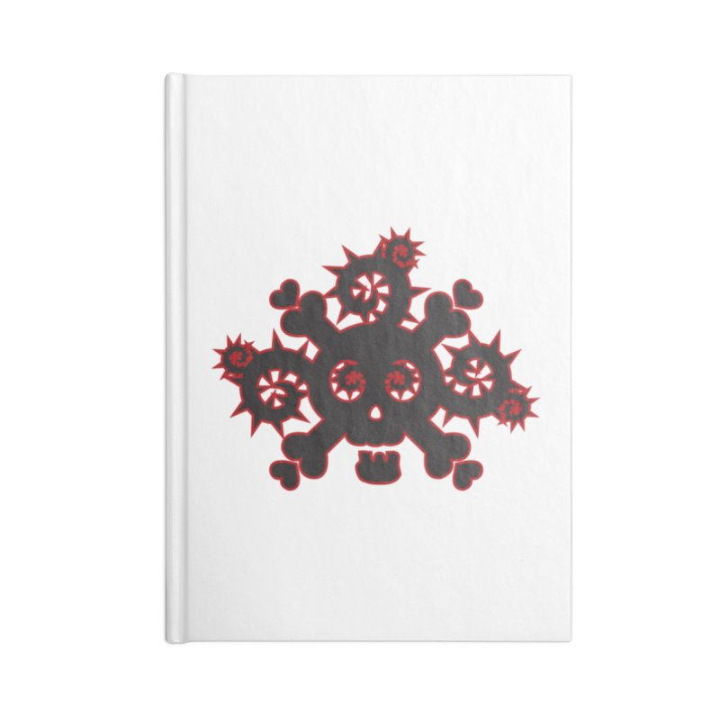 Skull & Crossbones Accessories Lined Journal Notebook by Shirt For Brains